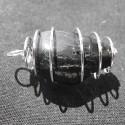 Pendentif Spirale Tourmaline noire