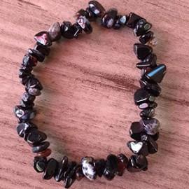 Bracelet Agate noire (Onyx)