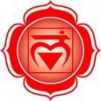 1er Chakra: Muladhara (carré aux 4 pétales) «Je Suis»  Le Chakra de Base implique une rotation positive (sens des aiguilles d'une montre) chez l'homme et négative chez la femme....