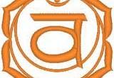 2ème Chakra: Svadhistana (cercle en croissant de lune aux 6 pétales) «Je Sens»  Le Chakra Sacré implique une rotation négative chez l'homme, positive chez la femme. Il est relié...